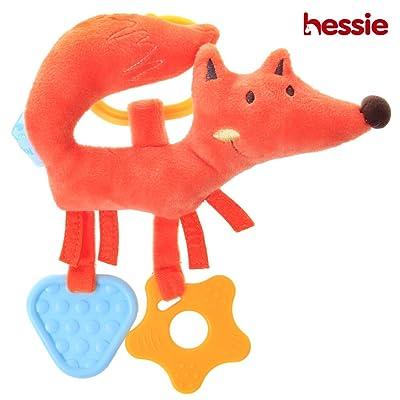 Hessie Baby BPA Free Silicon Teething Toys, Gum Massager with Animal - Orange Fox : Baby