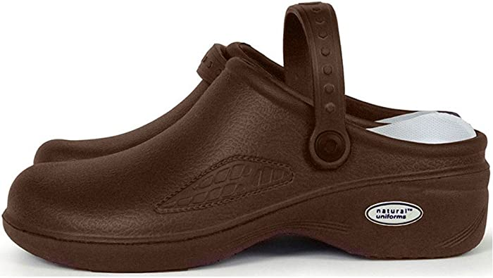 Natural Uniforms Womens Ultralite Clogs Chocolate Size 9 9038