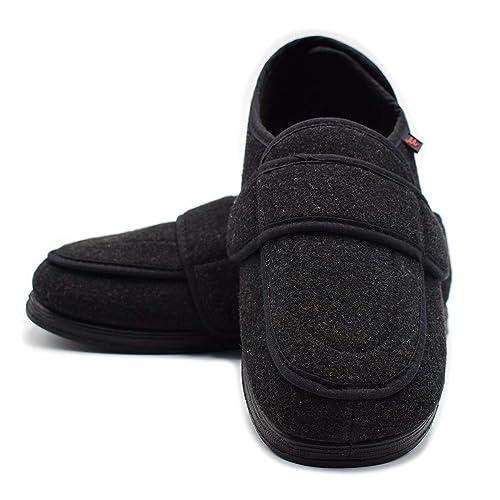 924fc0b12737 Mei MACLEOD Men Diabetic Slipper Swelling Feet Extra Wide Width Arthritis  Edema Memory Foam Shoes (