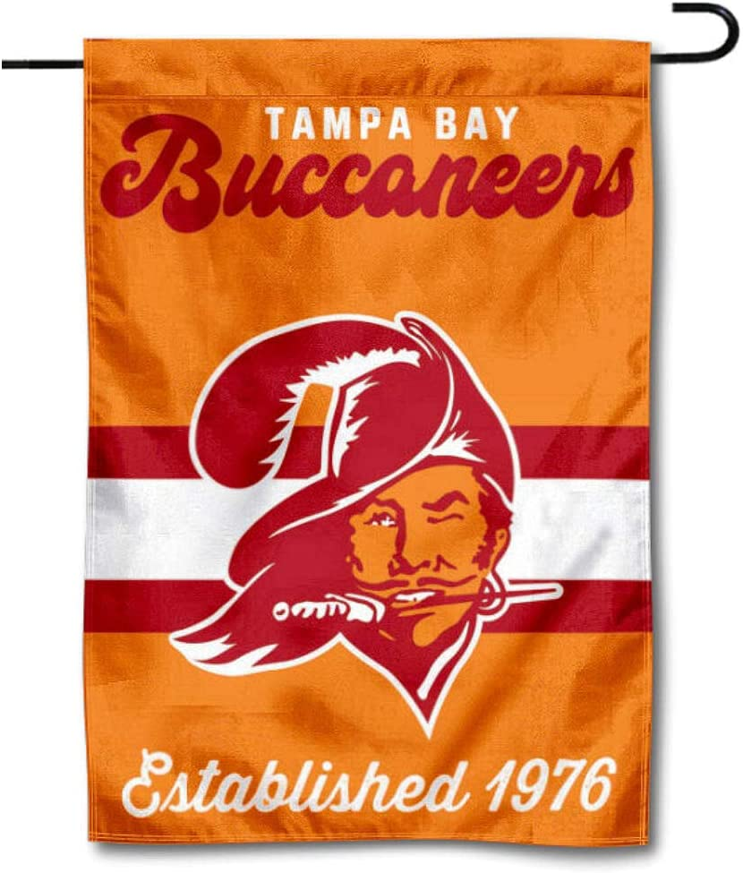 WinCraft Buccaneers Throwback Retro Vintage Garden Flag Double Sided Banner