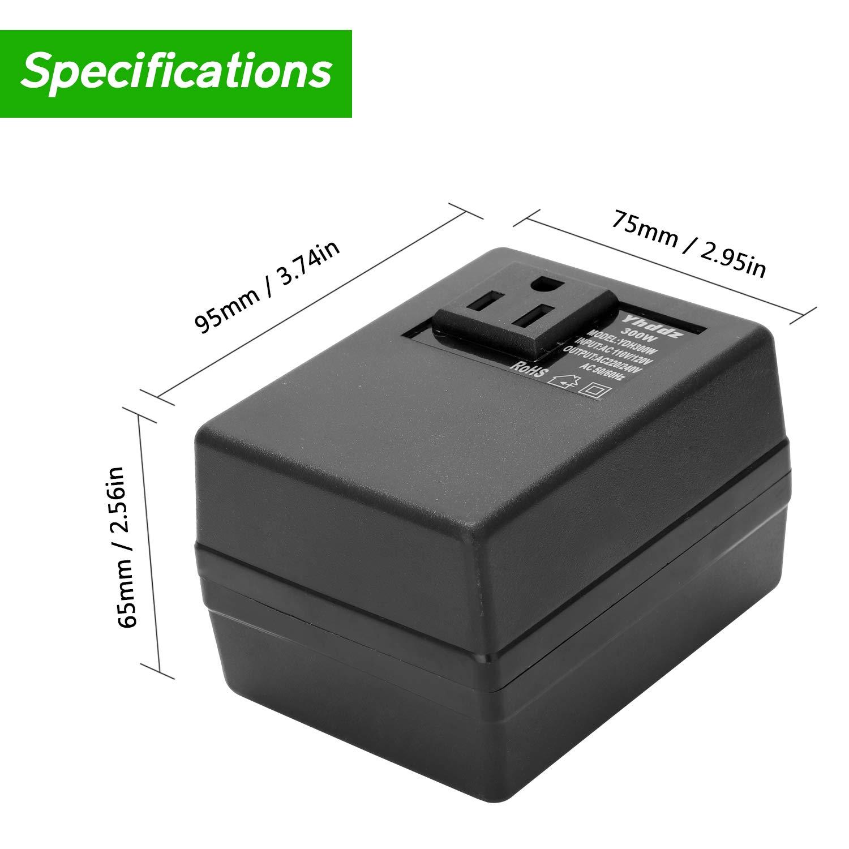 KKmoon Transformador Elevador//Reductor de Voltaje de Convertidor Inteligente eficiente hogar 300W Inteligente Eficiente Hogar AC 110V A 220V Adaptador de corriente de viaje Convertidor de voltaje