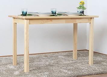 Comedor Mesa 60 x 120 cm, madera de pino maciza, color: natural ...
