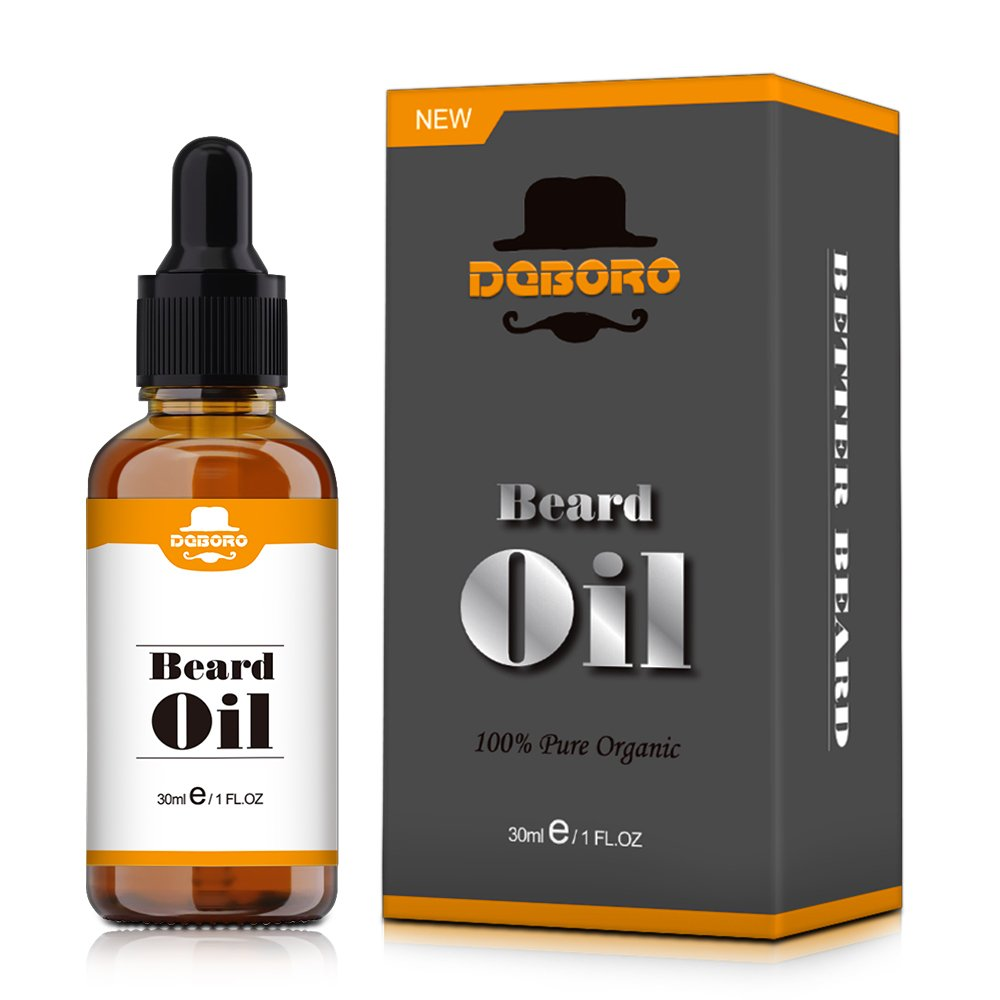 Beard Oil for Men - All Natural Unscented Beard Growth Oil for Mustache & Goatee, Leave in Conditioner Softener Facial Hair Care Product for Fuller and Thicker Beard 1 Fl Oz 30ml BOER