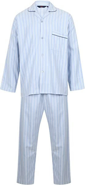 Pijama Clásico para Hombre, Manga Larga, Algodón 100%: Amazon.es ...