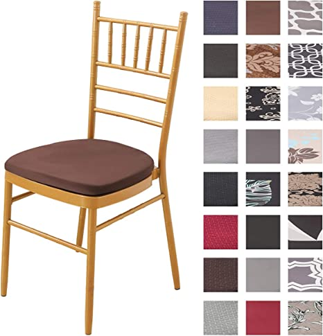 Padgene Dining Chair Seat Covers, Spandex Chair Seat Cover, Stretch Seat Covers, Machine Washable Elastic Chair Cushion Covers, Slipcovers for Kitchen and Office: Amazon.de: Küche & Haushalt