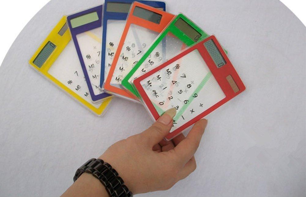 8cifre LCD Touch Screen Elettronica trasparente calcolatrice solare promozioni BuyinCoins 10300-calculator XS140491