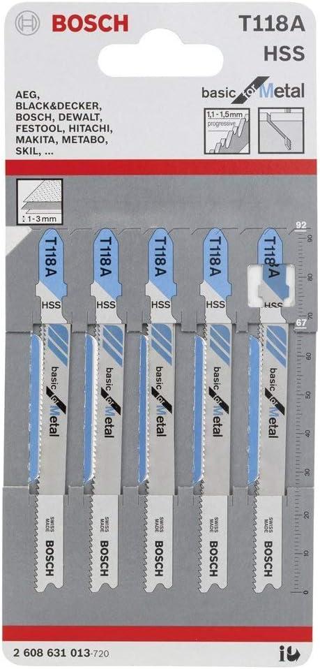 Bosch T118A Heavy Duty Metal Cutting Jigsaw Blade
