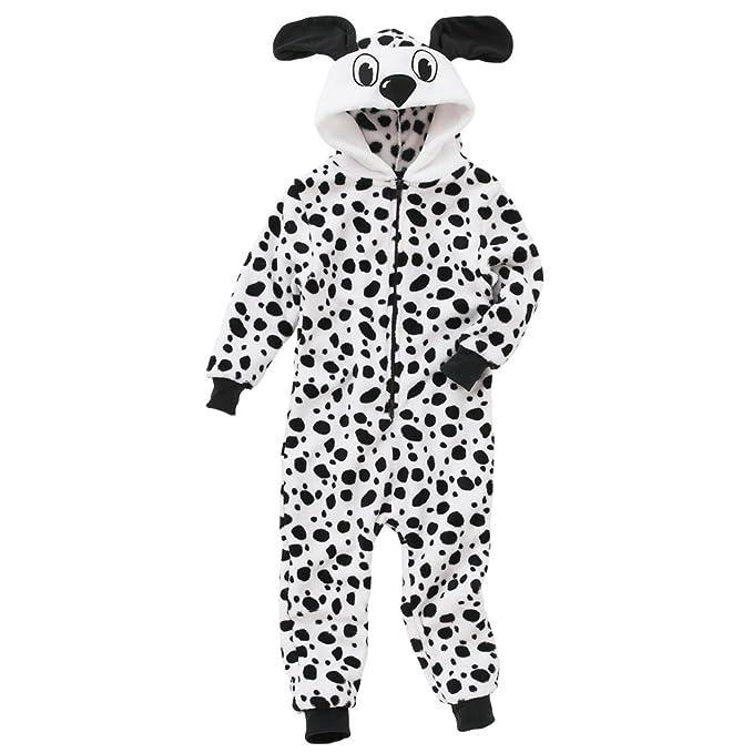 cd64a3bd87d0 Animal Crazy Girls Supersoft Fleece Dalmatian Onesie Jumpsuit ...