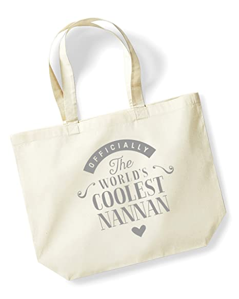 Nannan Birthday Gift Or Christmas Bag Tote Shopping Present Gifts For Women Worlds Coolest Natural Amazoncouk