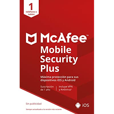 McAfee Mobile Security with VPN | 1 Dispositivo | 1 Usuario | 12 Meses | PC/Mac | Código de activación enviado por email