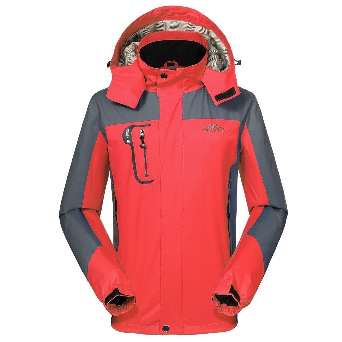 Chaqueta impermeable Givbro con funci/ón transpirable y capucha para exteriores para acampada y senderismo deportiva Softshell