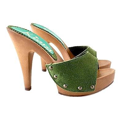 53c3f1e83f45c kiara shoes Comfortable Suede Clog - K213001