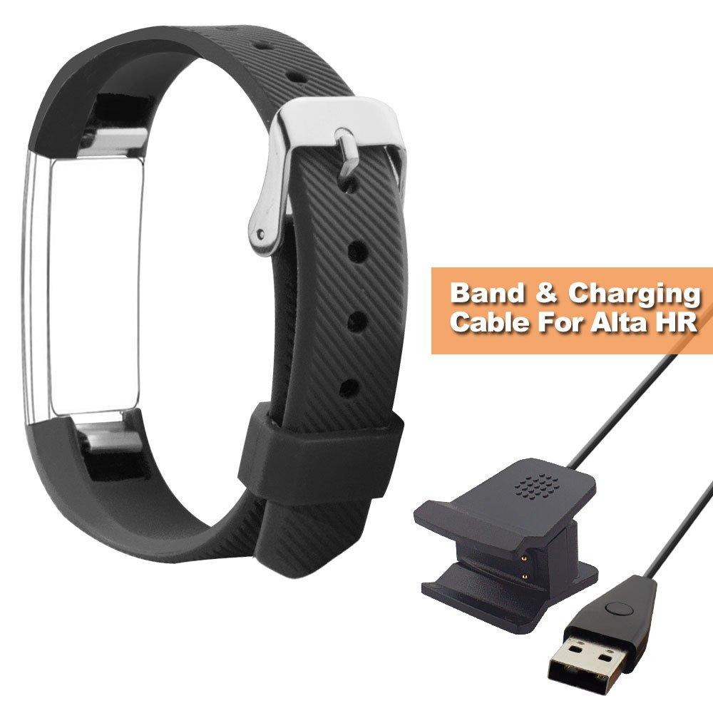 Fitbit alta HR bandas, shonco seguro salud silicona banda de ...