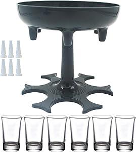 6 Shot Glass Dispenser and Holder -Dispenser For Filling Liquids, Shots Dispenser, Multiple 6 Shot Dispenser, Bar Shot Dispenser, Cocktail Dispenser