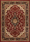 Well Woven Barclay Medallion Kashan Red Traditional Area Rug 2'3'' X 3'11''