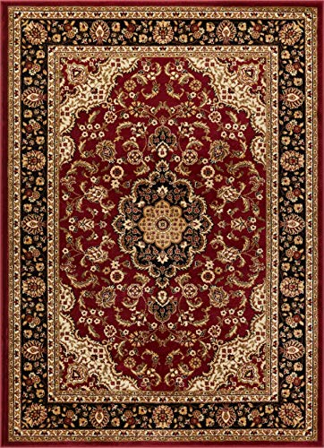 Kashan Rug - Well Woven Barclay Medallion Kashan Red Traditional Area Rug 6'7'' X 9'6''
