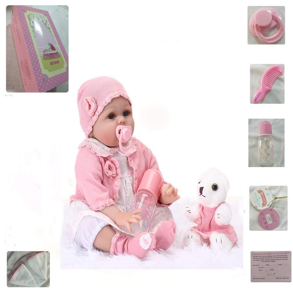ZIY IUI 22 Reborn Baby Girl Doll Newborn Baby Dolls Realistic Silicone Vinly Babys Doll Birthday Gifts