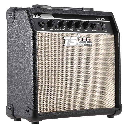 ammoon GM-215 Professional 15W Electric Guitar Amplifier Amp Distortion with 3-Band EQ 5″ Speaker