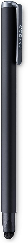 Wacom CS-190B Bamboo Solo 4 Bolígrafo digital para los dispositivos con tecnología táctil capacitiva / Punta de fibra de carbono reemplazable / Diseño triangular ergonómico / Color azul