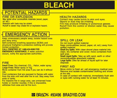 Brady 93496,  Hazardous Material Label:Dot 5800.4-1987, 3 3/4