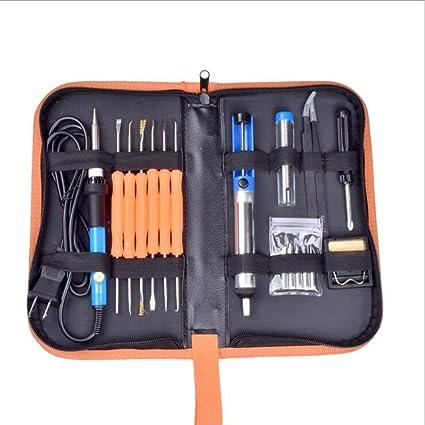 Kit Soldador Electrónica de Estañoo con Caja de Herramienta 220V 60W Soldadores Temperatura Ajustable 200 °
