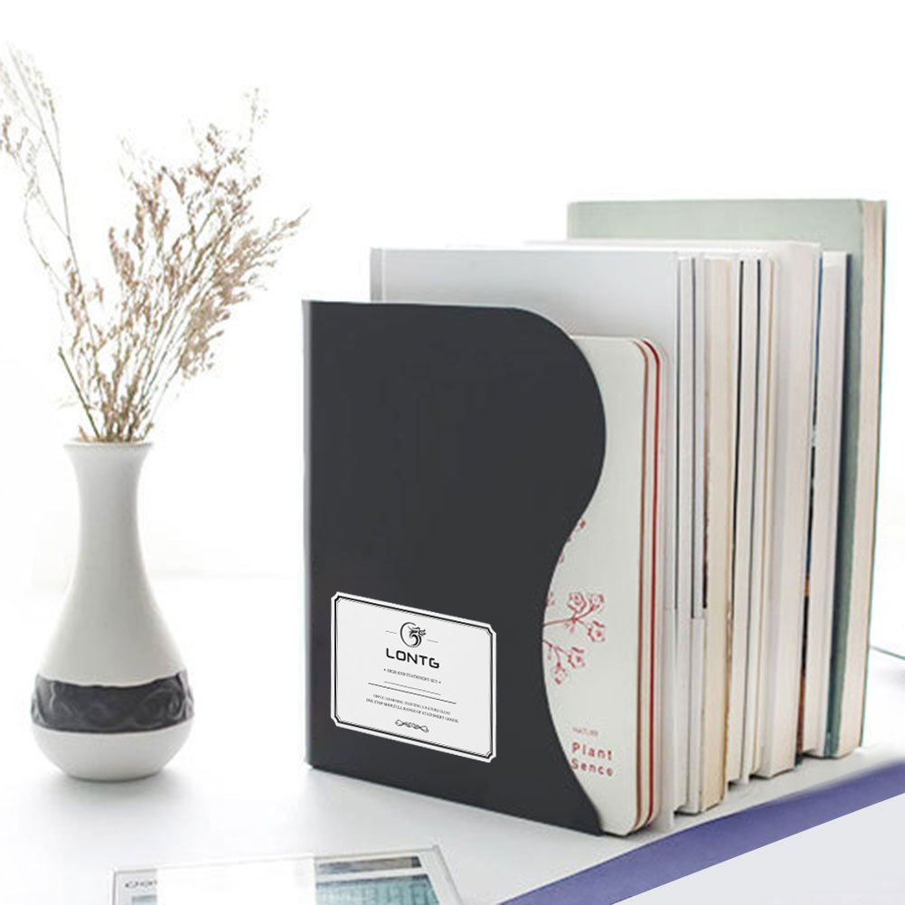 Adjustable Bookend Book Holder Stable Book Stand Office Desk Shelf Extension Large Capacity Book Rack Retractable Bookend Metal Heavy Duty Magazine File Holders Desk Organizer Decorative Bookends