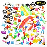 Geekper Party Favors, Bulk Toys 120 Pack Toy Assortment Goodie Bags for Kids Rewards Carnival Prizes Birthday Party Accessories