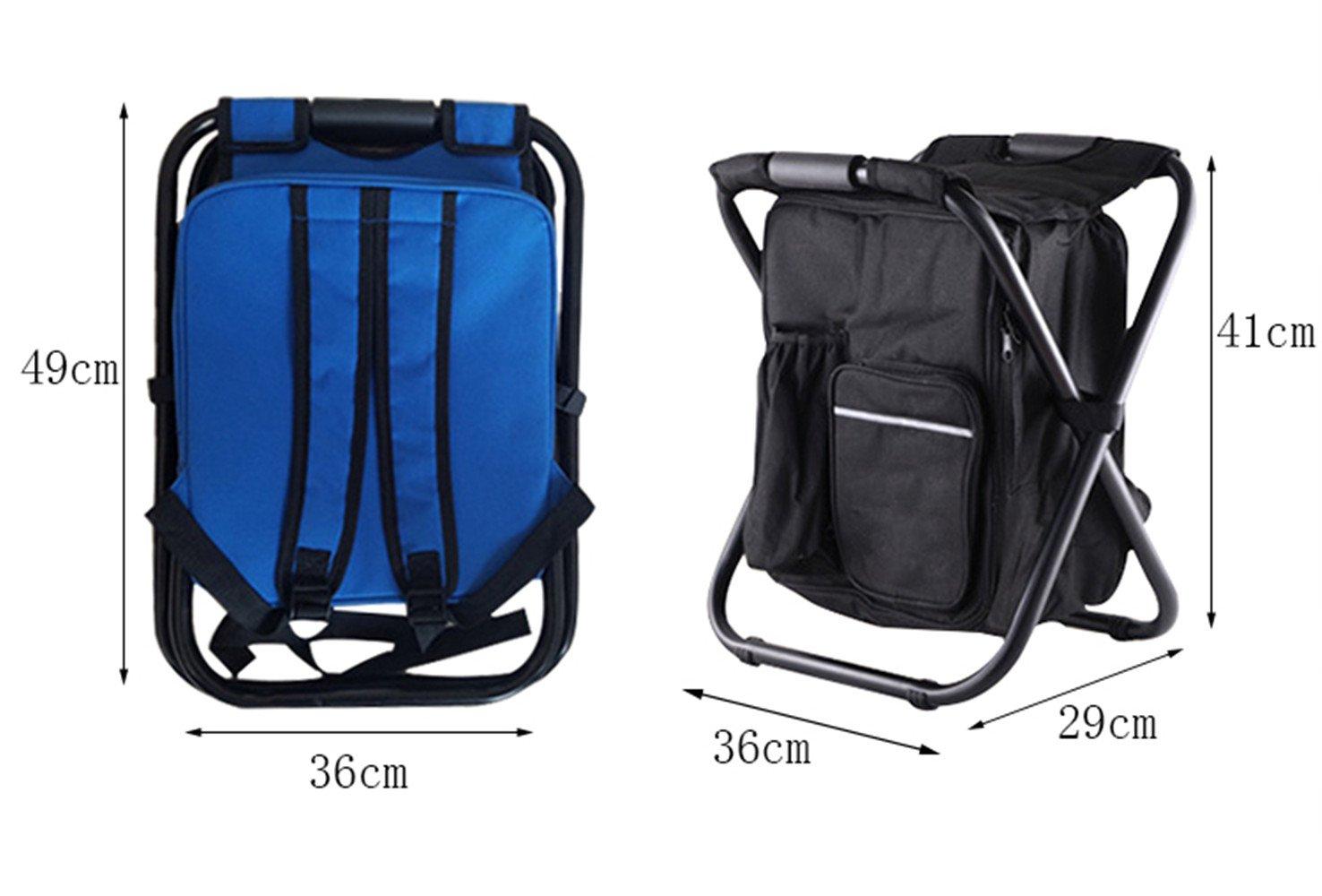 Campeggio zaino sedia da pieghevole portatile con borsa da picnic