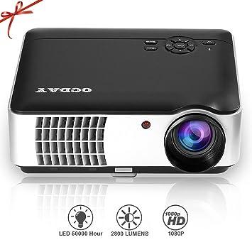 OCDAY Proyector HD 1080P 2800LM 1280*800 Píxeles Interfaz Entrada ...