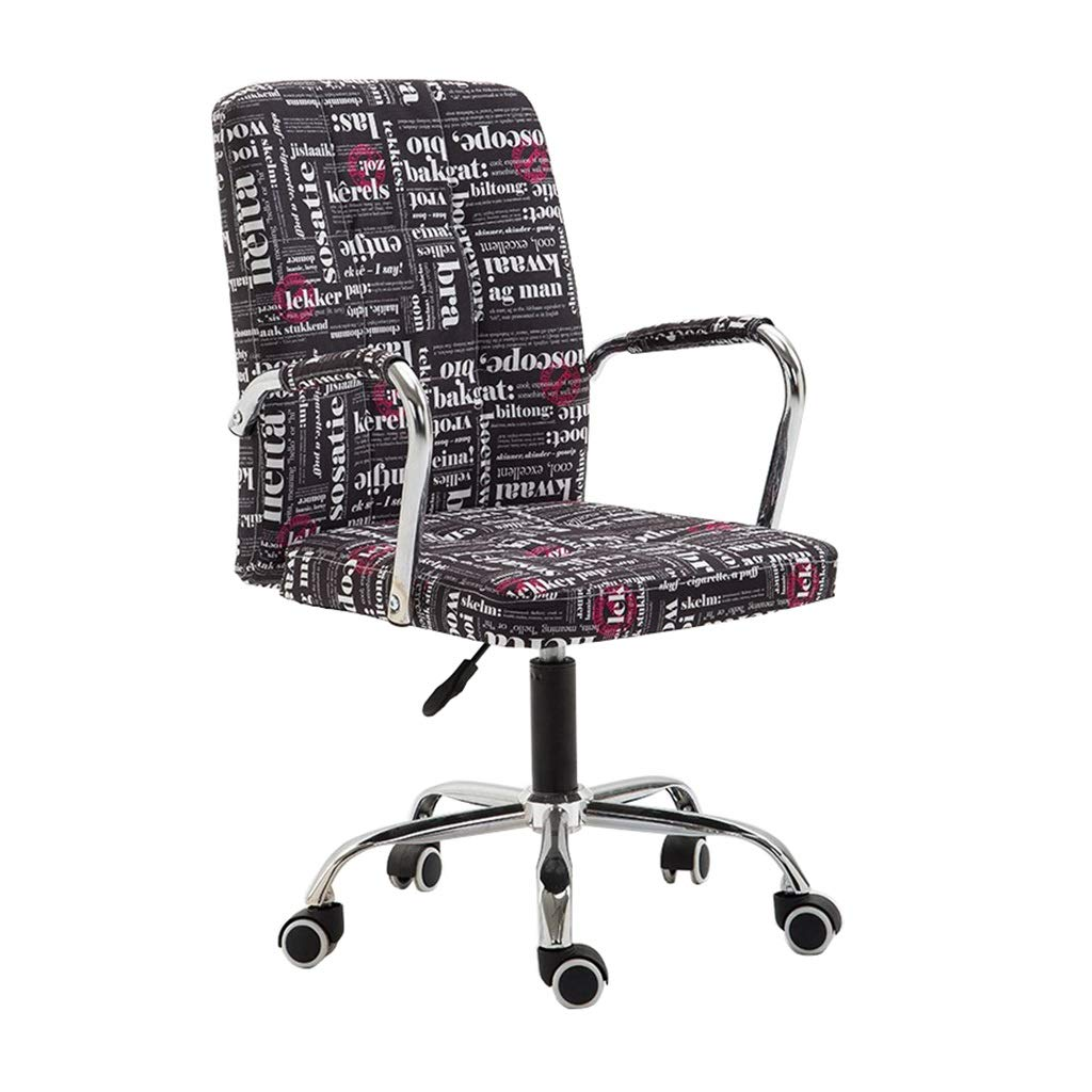 Office Swivel Chair Computer Chair Height Adjustable Faux Leather Leisure Chairs 360 ° Swivel Task Chair Back Ergonomic