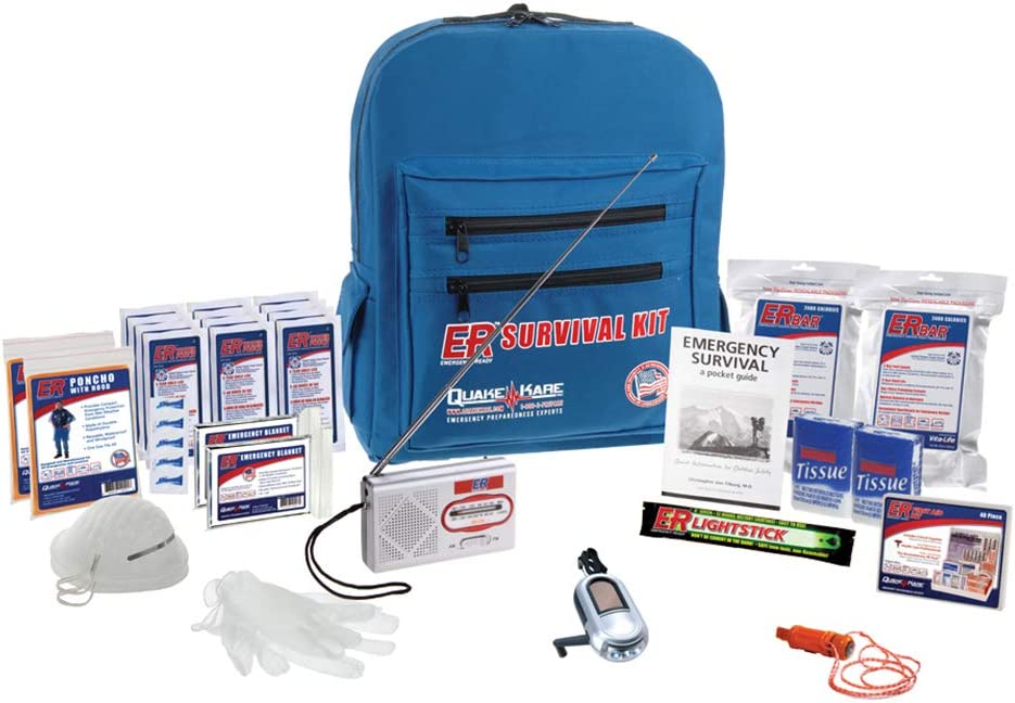 ER Emergency Ready 2 Person Deluxe Backpack Survival Kit, SKBP2SS
