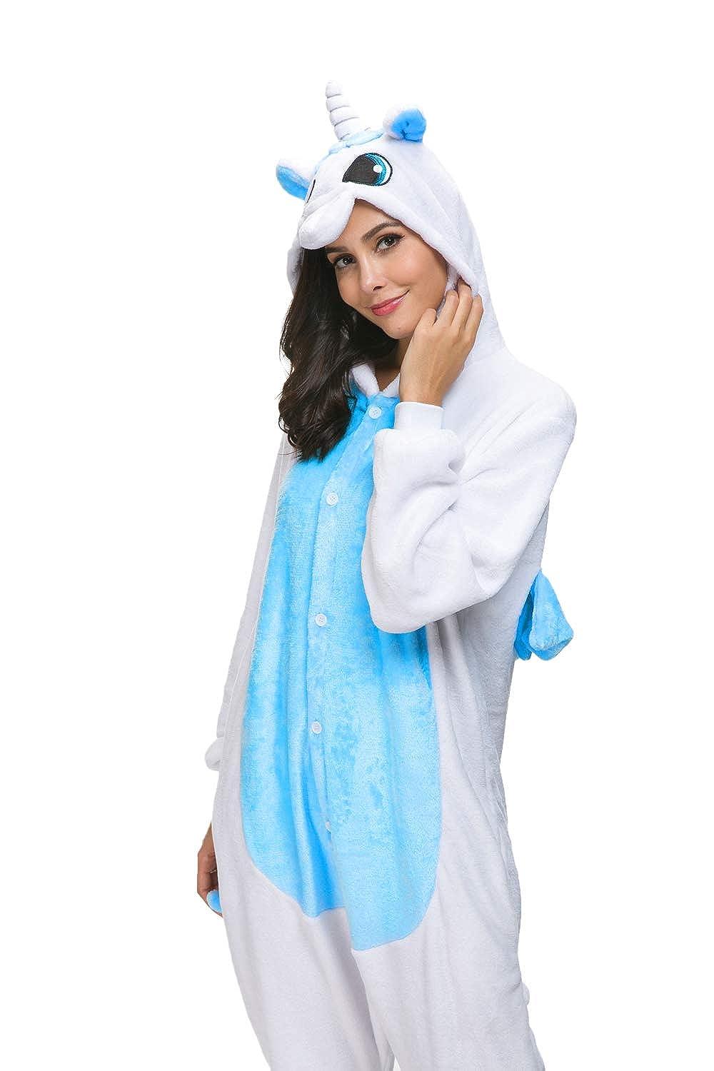Tr/ès Chic Mailanda Unisex con Cappuccio Pigiama da Notte Costume Cosplay Adulti Costume di Halloween