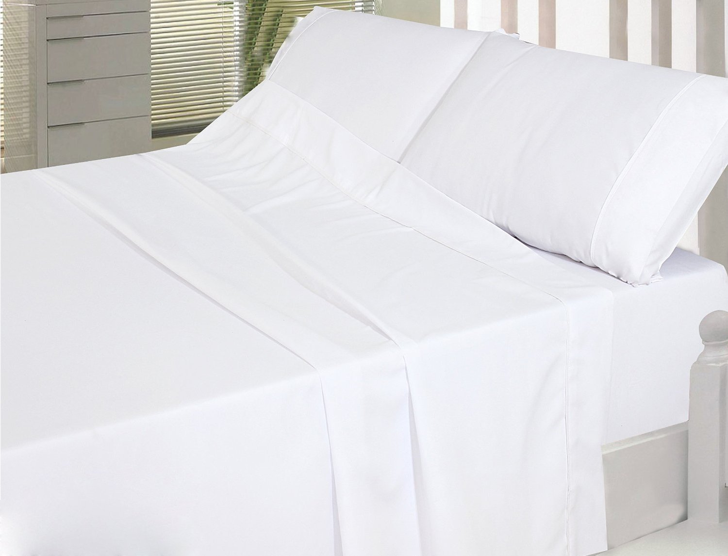 100% Combed Cotton Sateen Bed Sheet Set