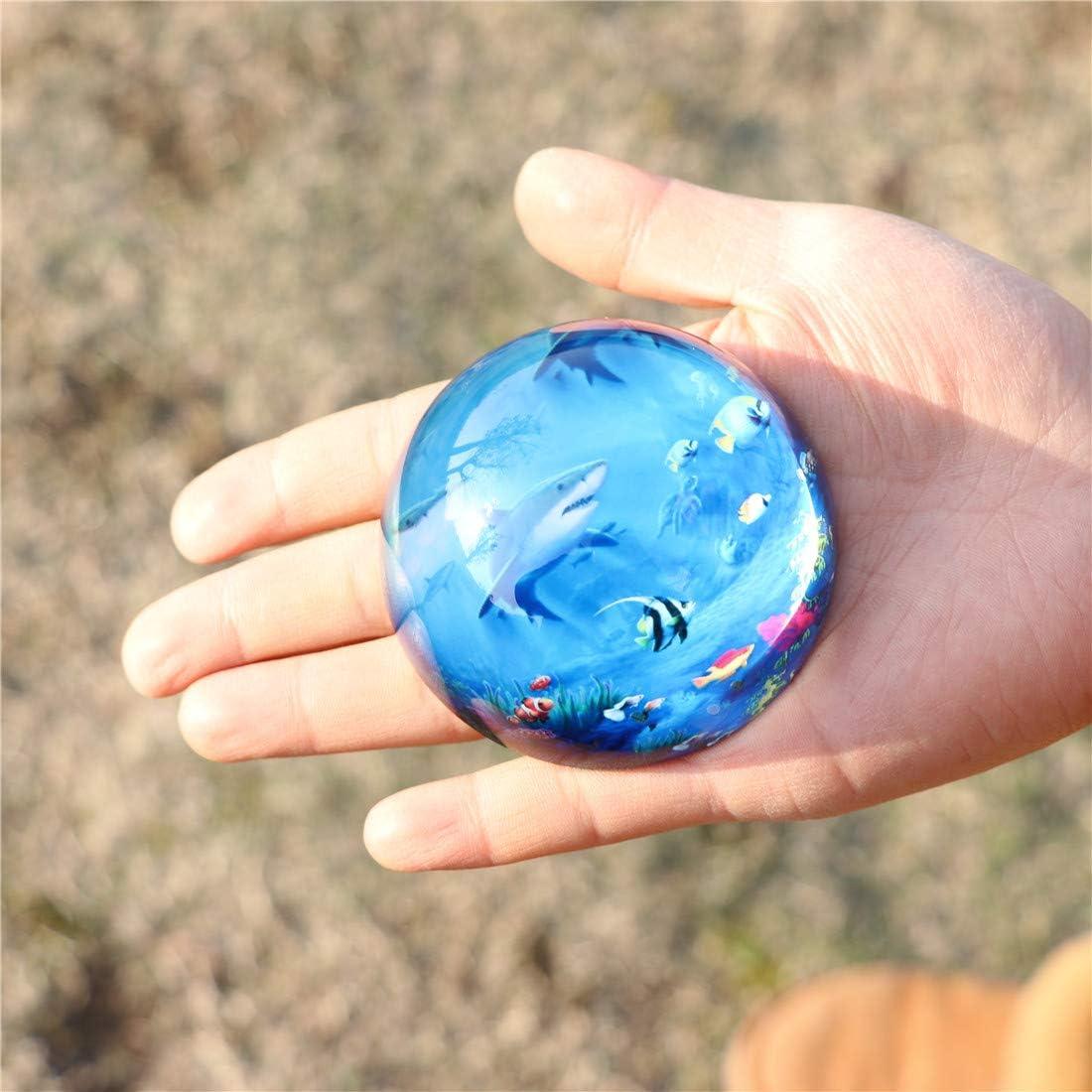 Halbkugel Presse Kreative Dekoration B/ürobedarf HANUR Crystal Underwater World Briefbeschwerer Glaskugel