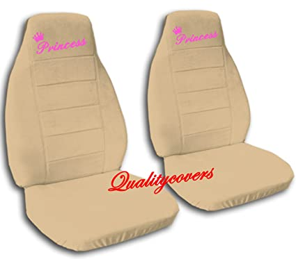 2 Tan QuotPrincessquot Car Seat Covers