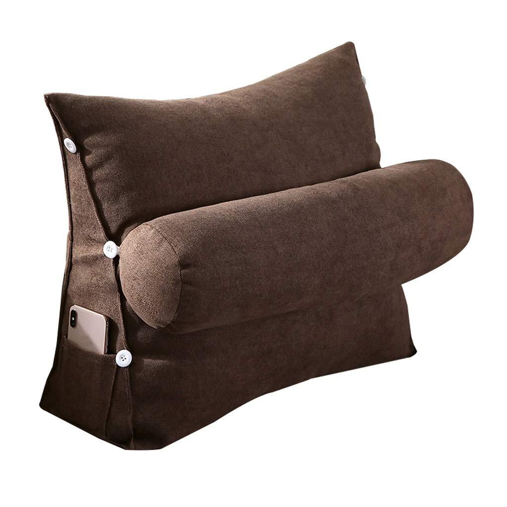 Unbekannt Dreieckauflage Rückenlehnenauflage Samtkissen Schlafsofa Bürostuhlruhe Kissen (Farbe : Braun, größe : L)