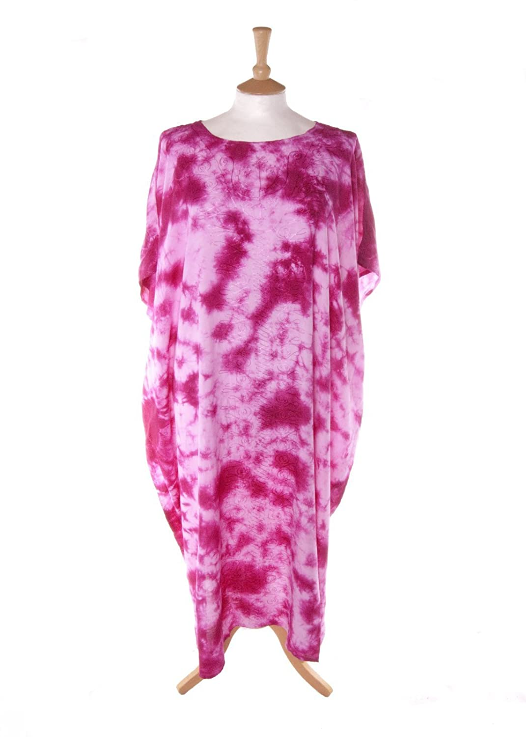 Didi 6064 Tie Dye Beaded Kaftan in Pink Sizes 14-34