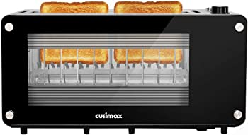 CUSIMAX Glass 2 Slice Long Slot Toasters