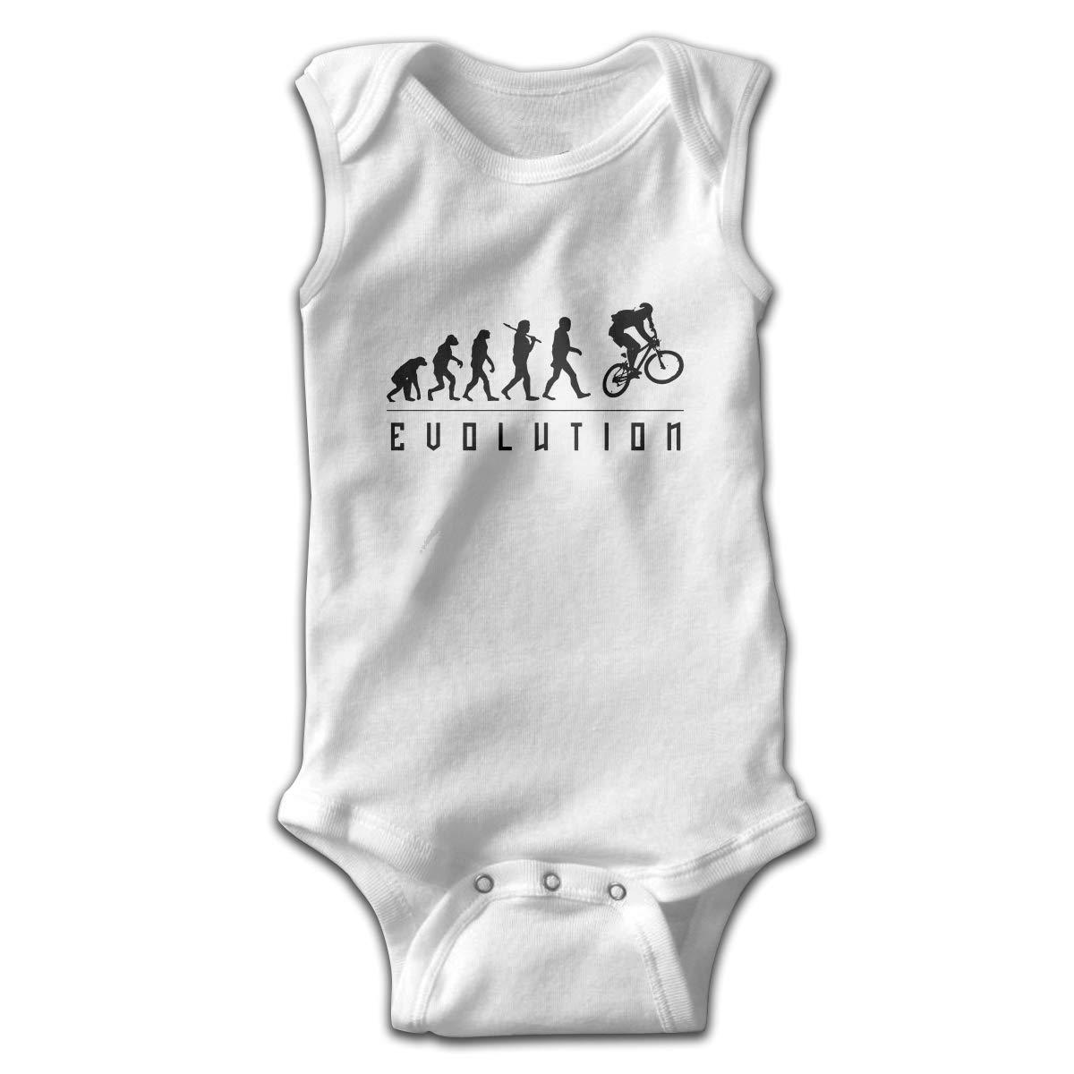 Dfenere Motocross Evolution Newborn Baby No Sleeve Bodysuit Romper Infant Summer Clothing White