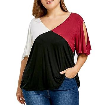 Camisetas de tallas grandes para mujeres (XL ~ 5XL), LILICAT® Top cruzadas