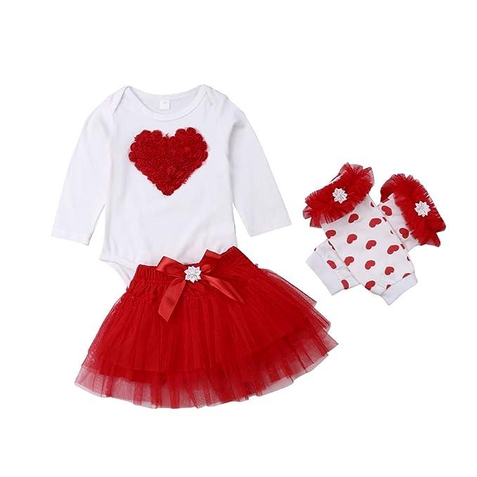 2ef517675f6e Amazon.com  New Valentine s Day Newborn Baby Girls Long Sleeve T ...