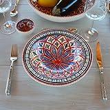 Assiette Tebsi Bakir rouge - D 23 cm