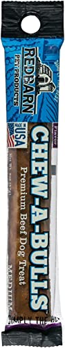 Redbarn Chew-A-Bulls Peanut Butter, Medium 1-Count