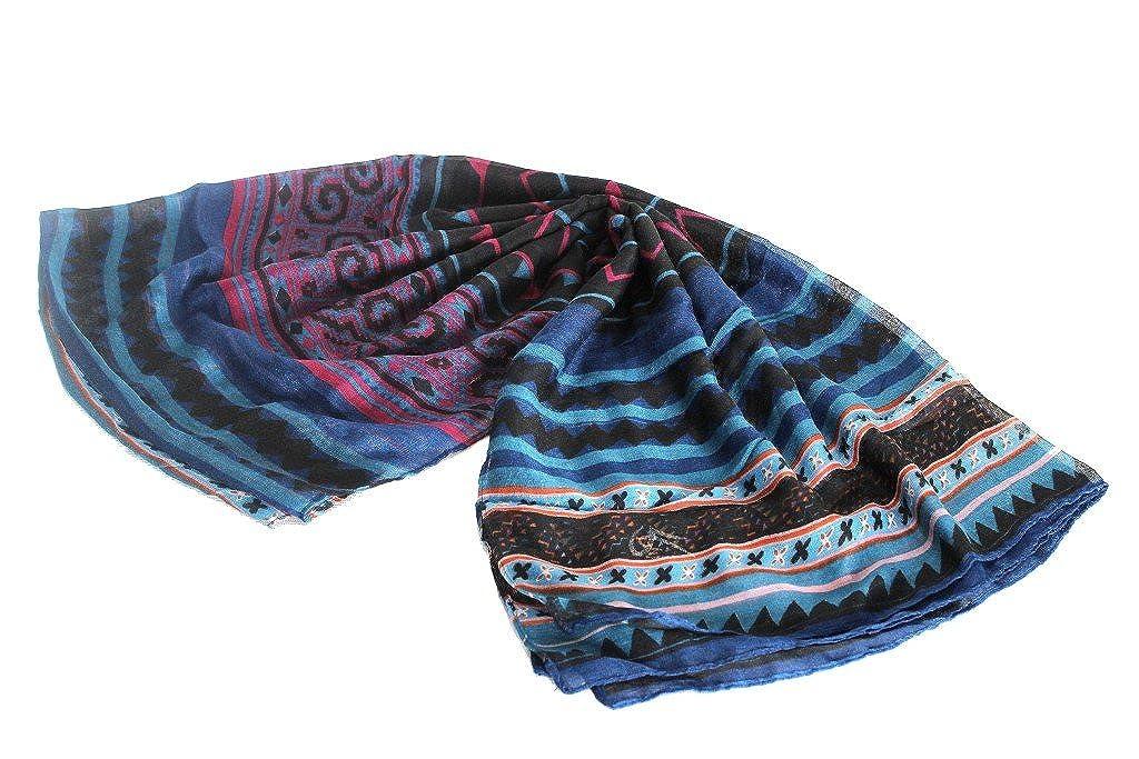 Sciarpa donna Gm by Gai Mattiolo pashmina l.regalo sc13 blu GM DESIGNED BY GAI MATTIOLO