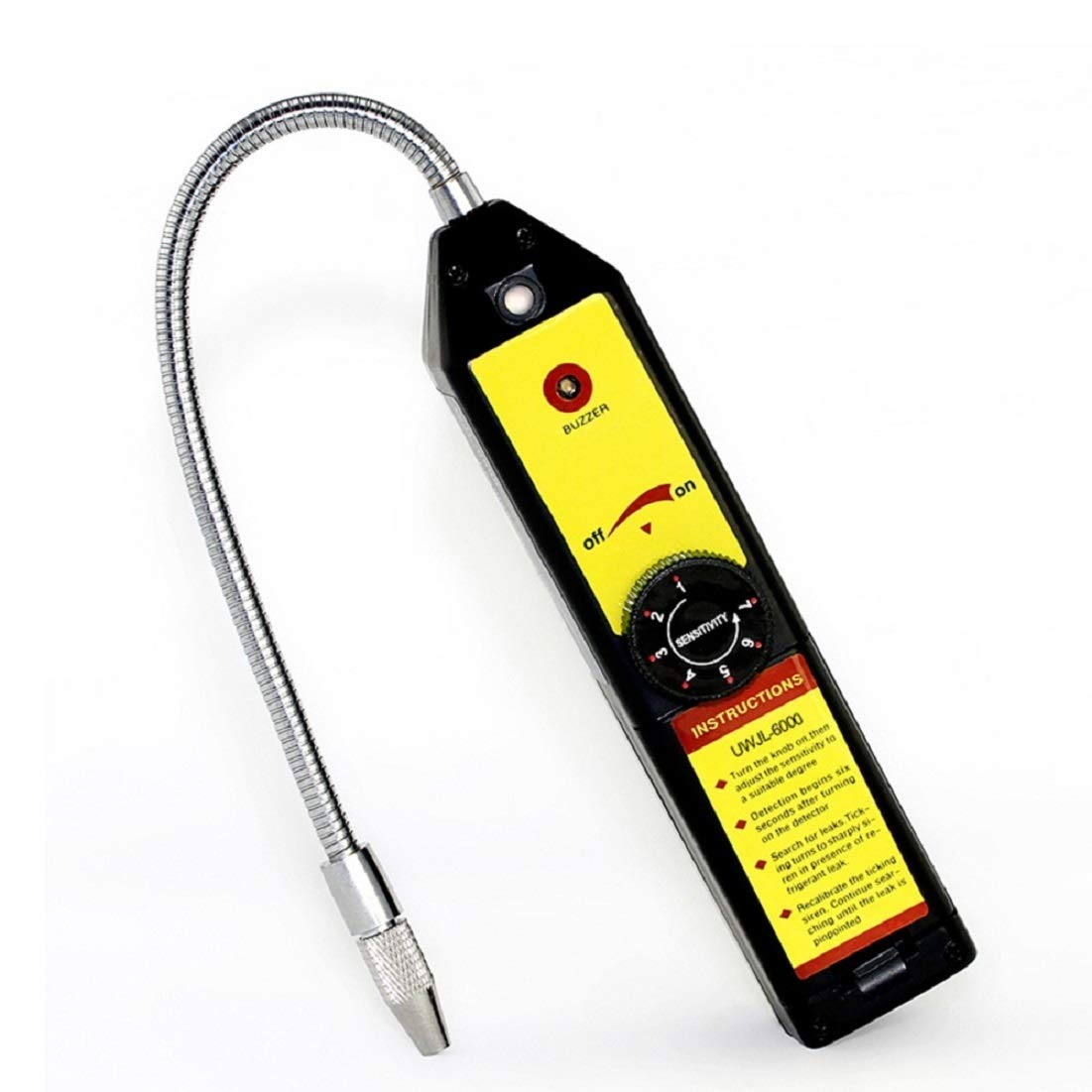 WJL-6000 Portable Refrigerant Halogen Leak Detector Tester Air Condition HVAC R22 R410A R134A CFCs HCFCs HFCs Detects