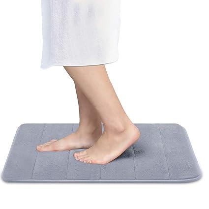 Memory Foam  Bathroom Water Absorbent Non-slip Mats Shower Carpet Y