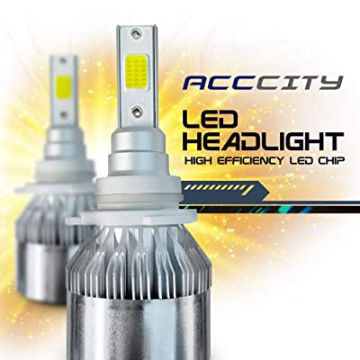 AccCITY LED Headlight Bulbs All-in-One Conversion Kit - 9006 (HB4) -7,000Lm 6000K Cool White CREE: Automotive