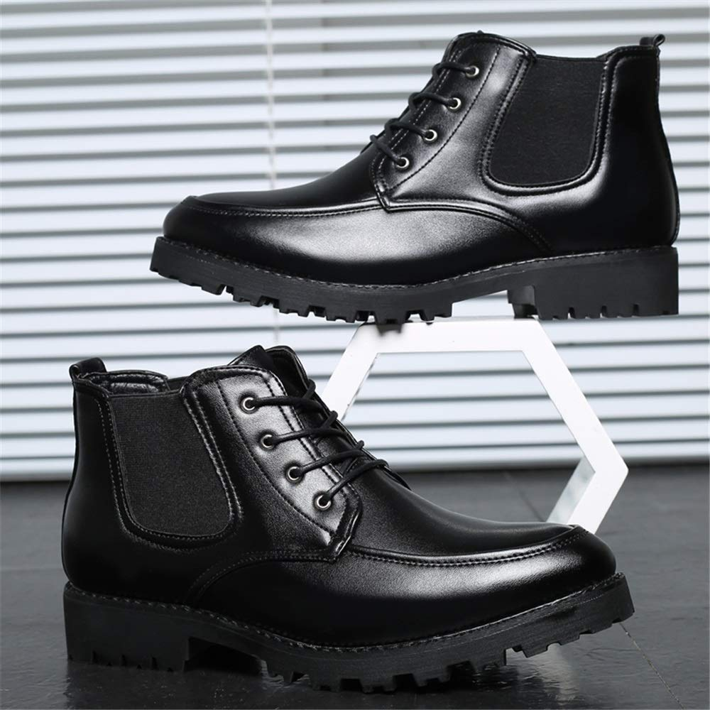 CHENJUAN Shoes Mens Fashion Ankle Boots Casual Personality Stitching Comfortable Outsole High Top Boot