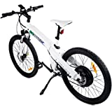 "ECOTRIC 26"" Inch Electric Bike White Electric Bicycle City E Bike Moped Pedal Assist Mountain Bike"
