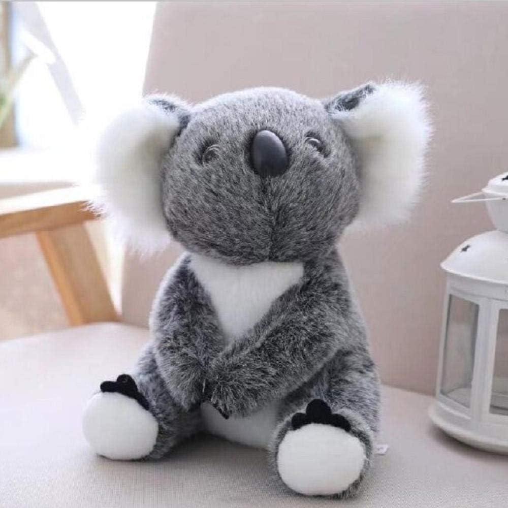 JMKHY Juguetes de Peluche Koala Doll Regalo de cumpleaños para niños Dinosaurio Oso de Peluche Soft Pug Panda Fox -Tall_28cm_Grey_Rabbit